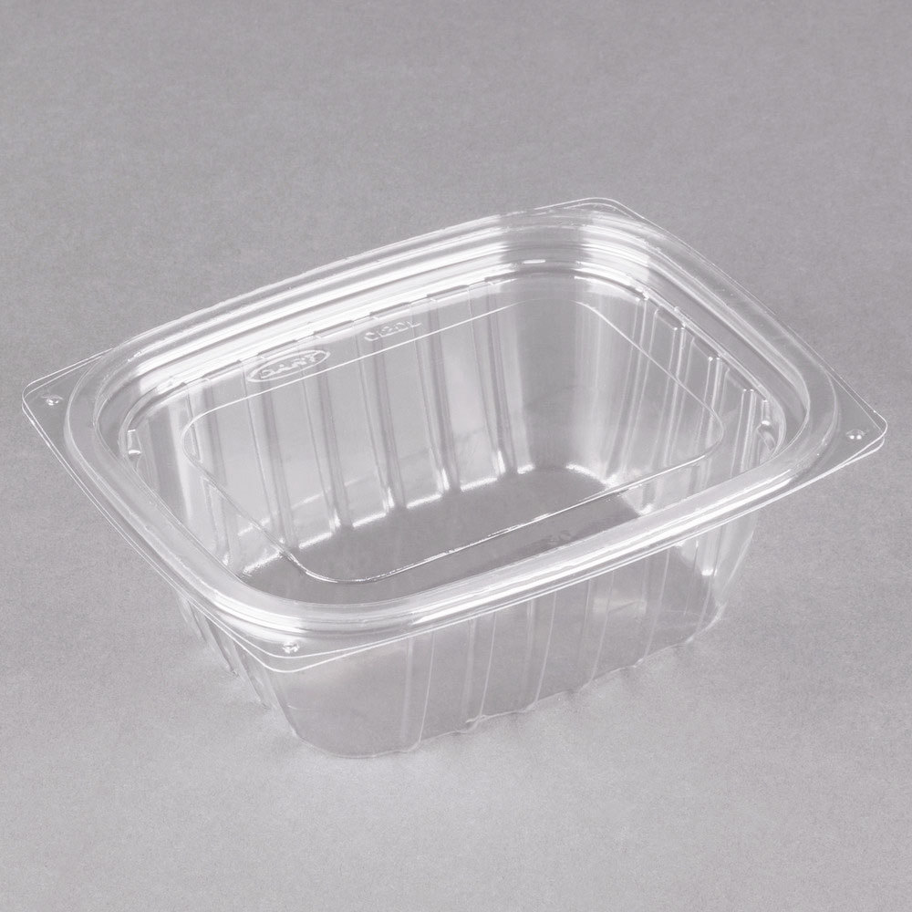 Dart C12DCPR ClearPac 12 oz Clear Rectangular Plastic Container
