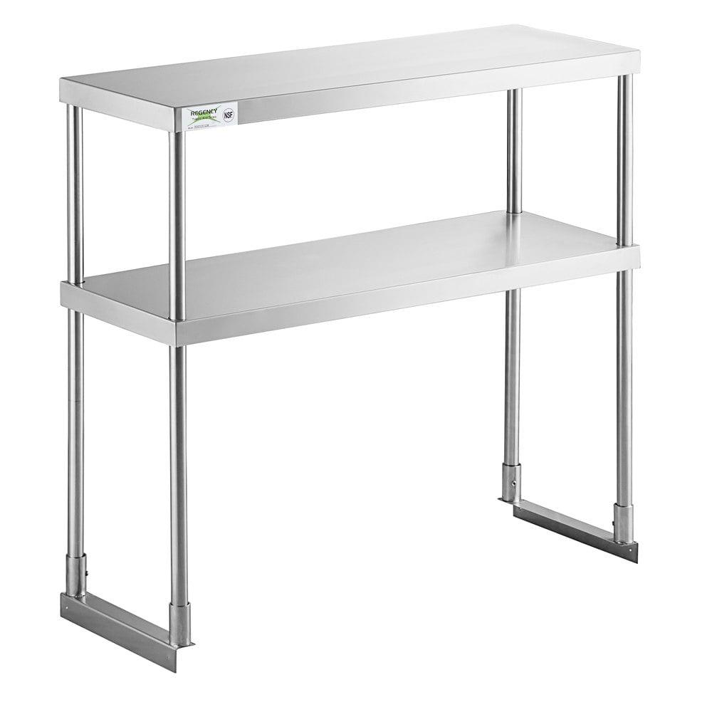 Regency Stainless Steel Double Deck Overshelf - 12 inch x 36 inch x 32 inch