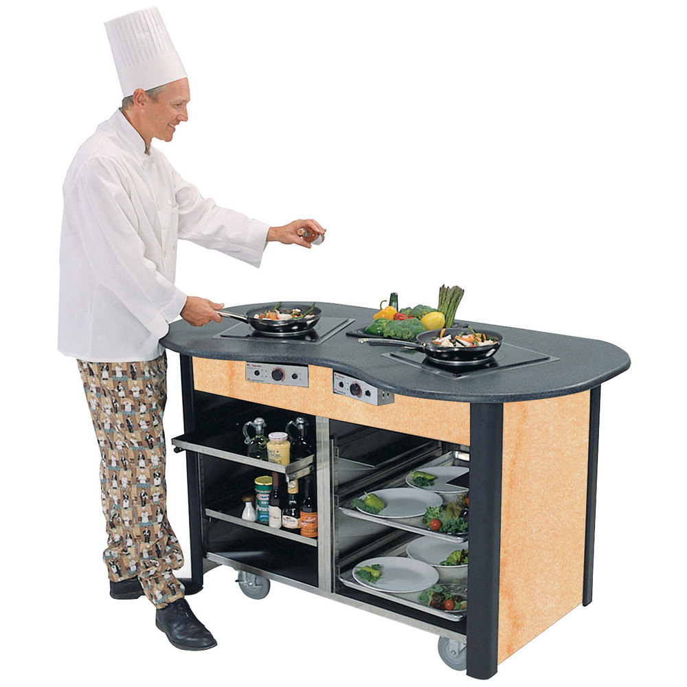 cook station chat A one piece design means this outdoor cooking station sets up & breaks down in a flash features an aluminum countertop, 4 side tables and storage rack.