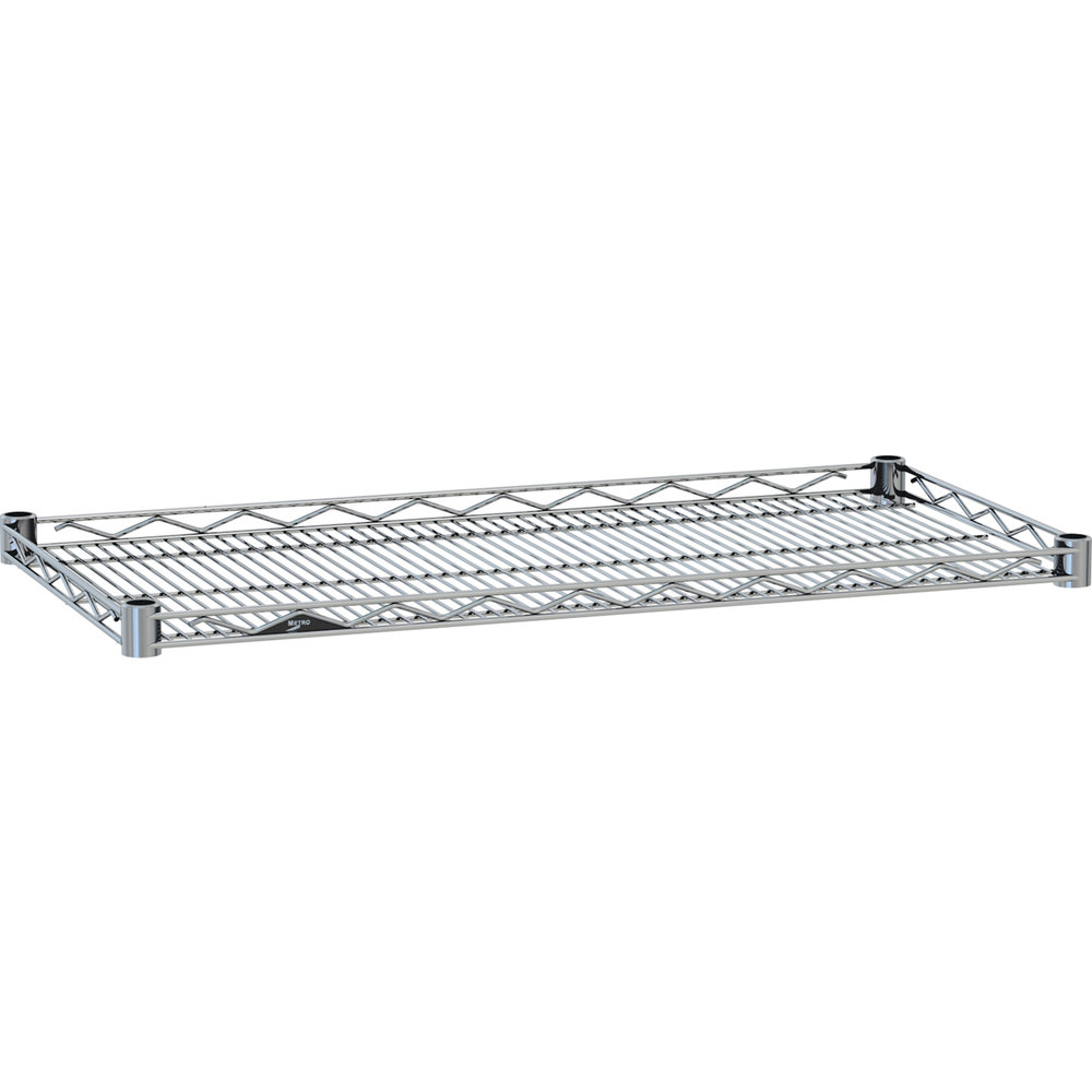 "Metro HDM2436NC Super Erecta Chrome Drop Mat Wire Shelf - 24"" x 36"""
