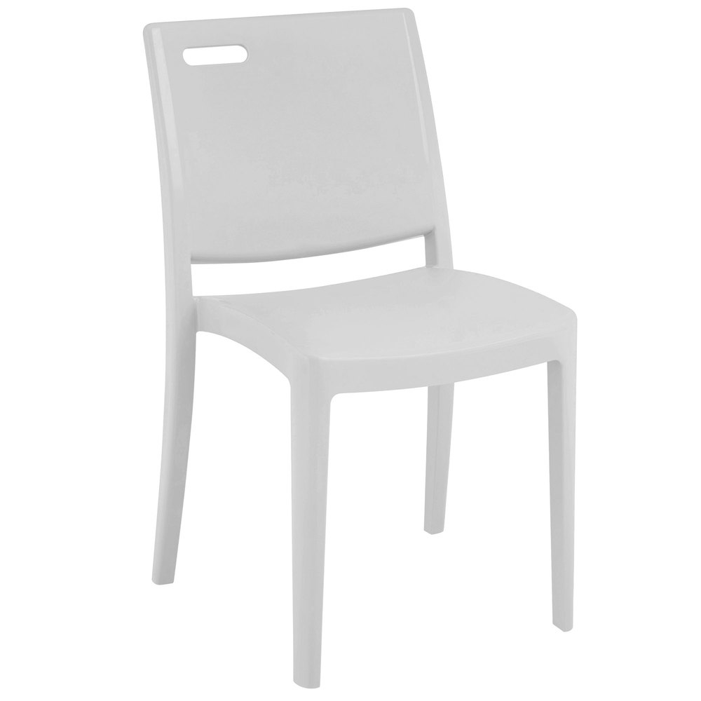 Grosfillex xa653096 us653096 metro glacier white indoor outdoor stacking resin chair - White resin stacking chairs ...