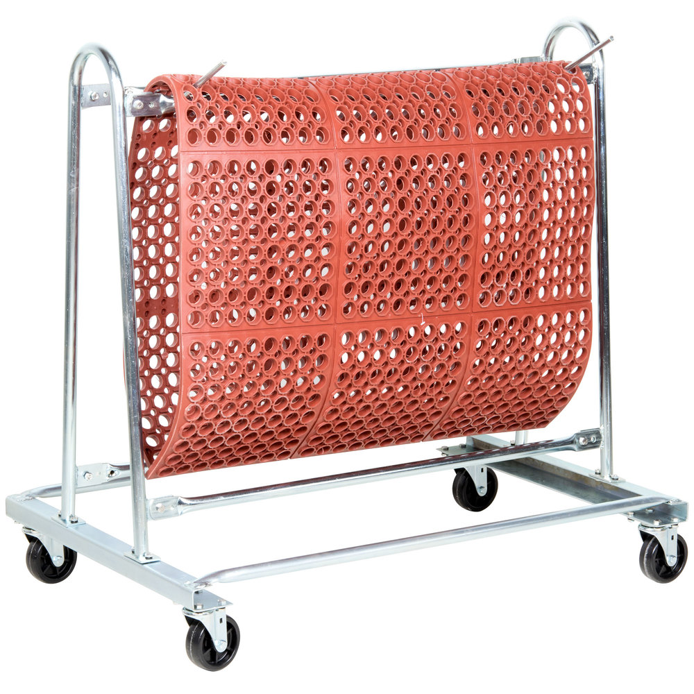 Cactus Mat 6477KD Portamat Unassembled Floor Mat Washing and Transport Cart - 10 Mat Capacity