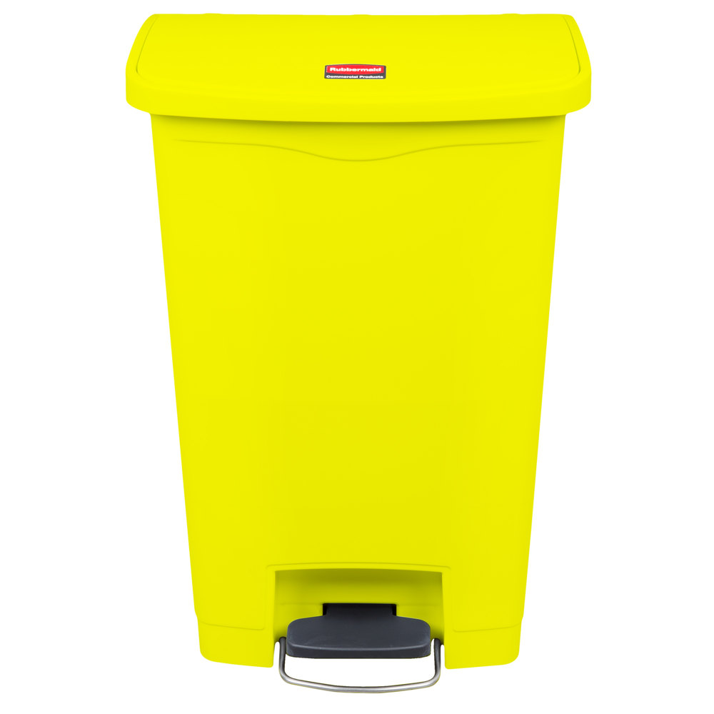 rubbermaid 1883575 slim jim resin yellow front step on trash can 13 gallon. Black Bedroom Furniture Sets. Home Design Ideas