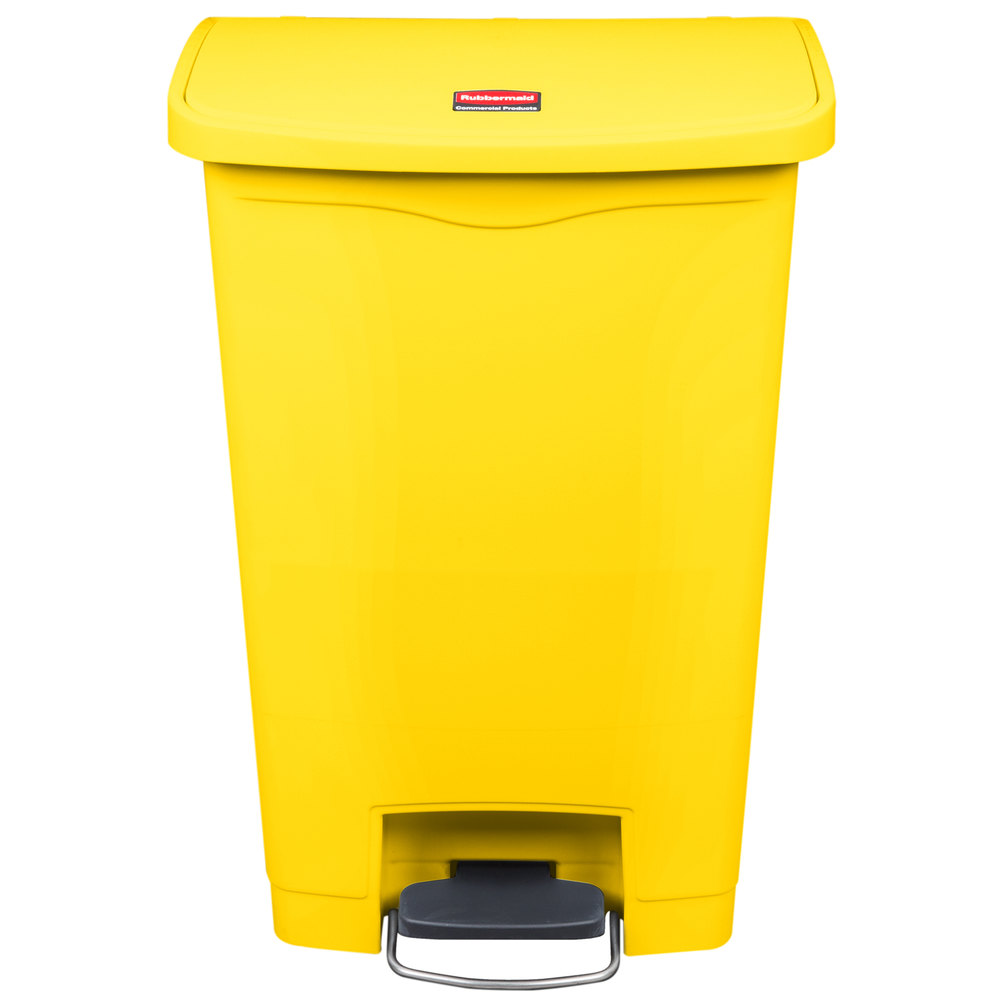 Rubbermaid 1883575 Slim Jim Resin Yellow Front Step On