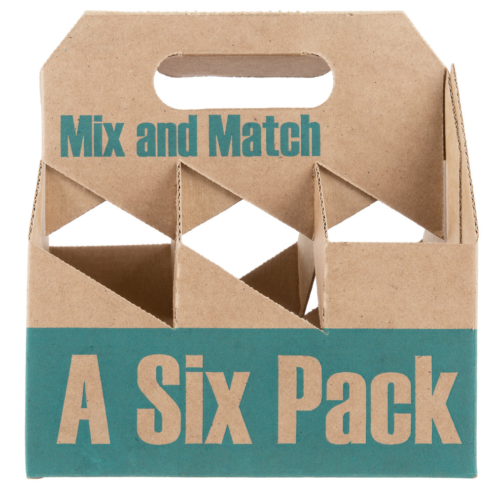 6 Pack Cardboard Beer Bottle Carrier 75 Case