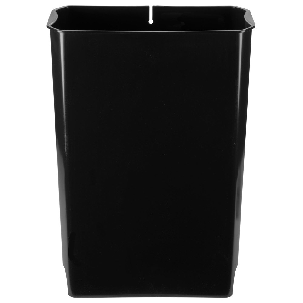 rubbermaid 1883624 slim jim black rigid plastic liner for 13 gallon resin end step on trash can. Black Bedroom Furniture Sets. Home Design Ideas