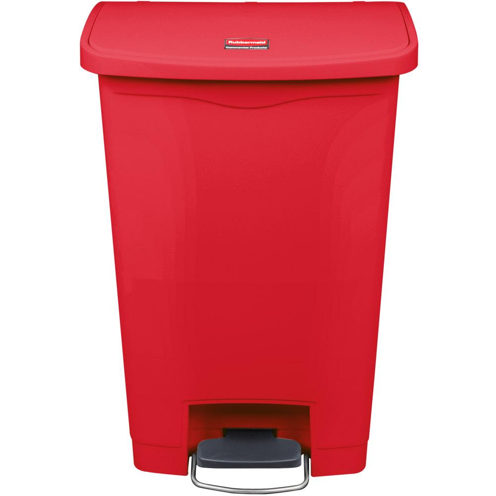 Rubbermaid Trash Can Rubbermaid Step 44 Gallon Green