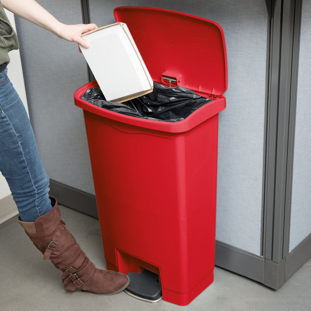 rubbermaid 13 gal rectangle metal trash can 18 11 l - 13 Gallon Trash Can
