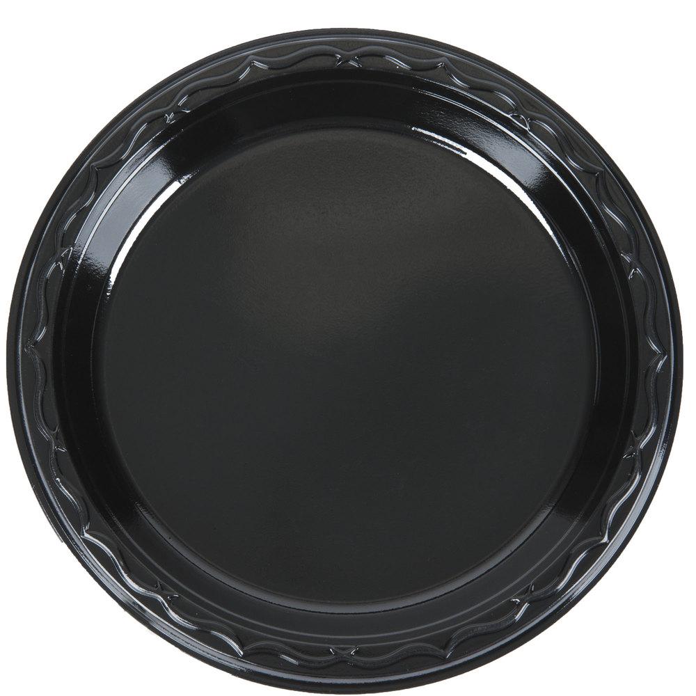 Genpak Blk06 Silhouette 6 Quot Black Premium Plastic Plate