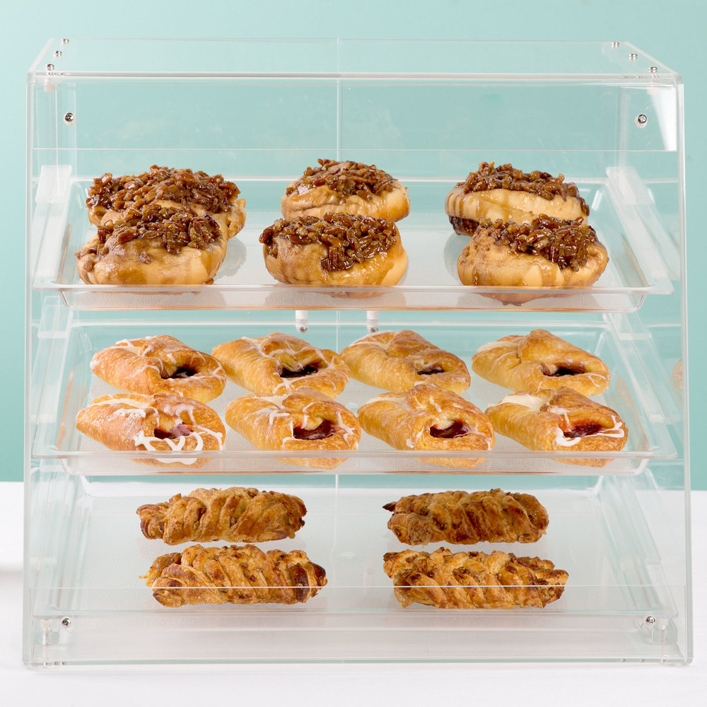 "Cal-Mil 1011 Three Tier U-Build Classic Pastry Display Case 19 1/2"" x 17"" x 16 1/2"""