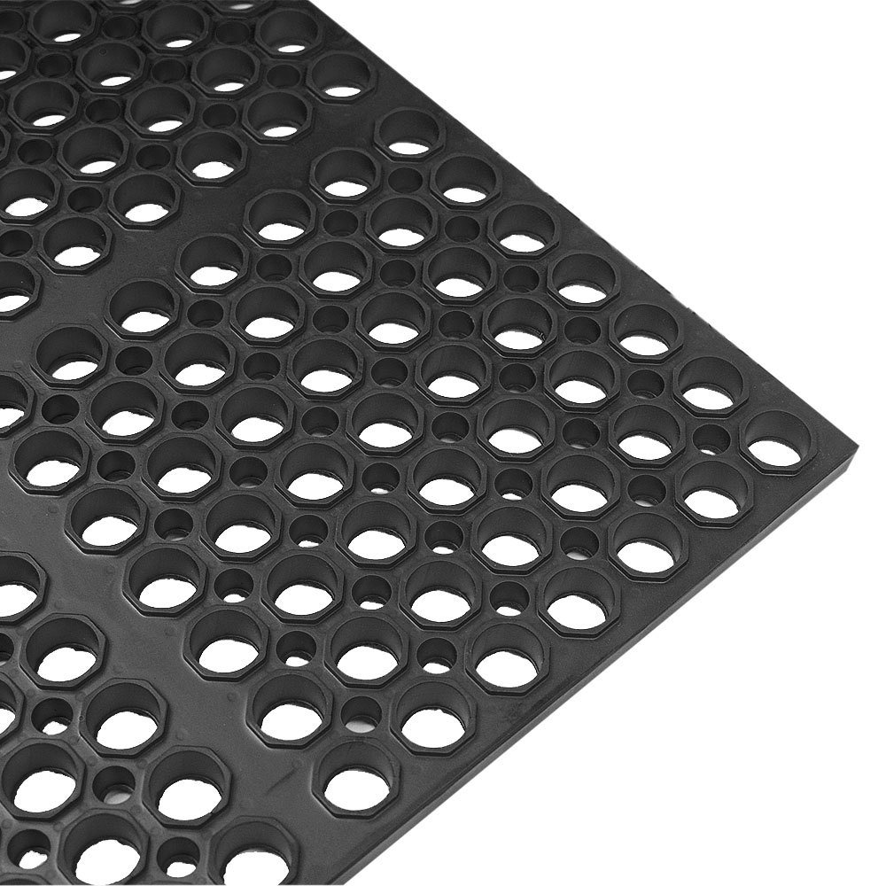 "mat 2521-c3 vip lite 29"" x 39"" black rubber anti-fatigue floor mat"