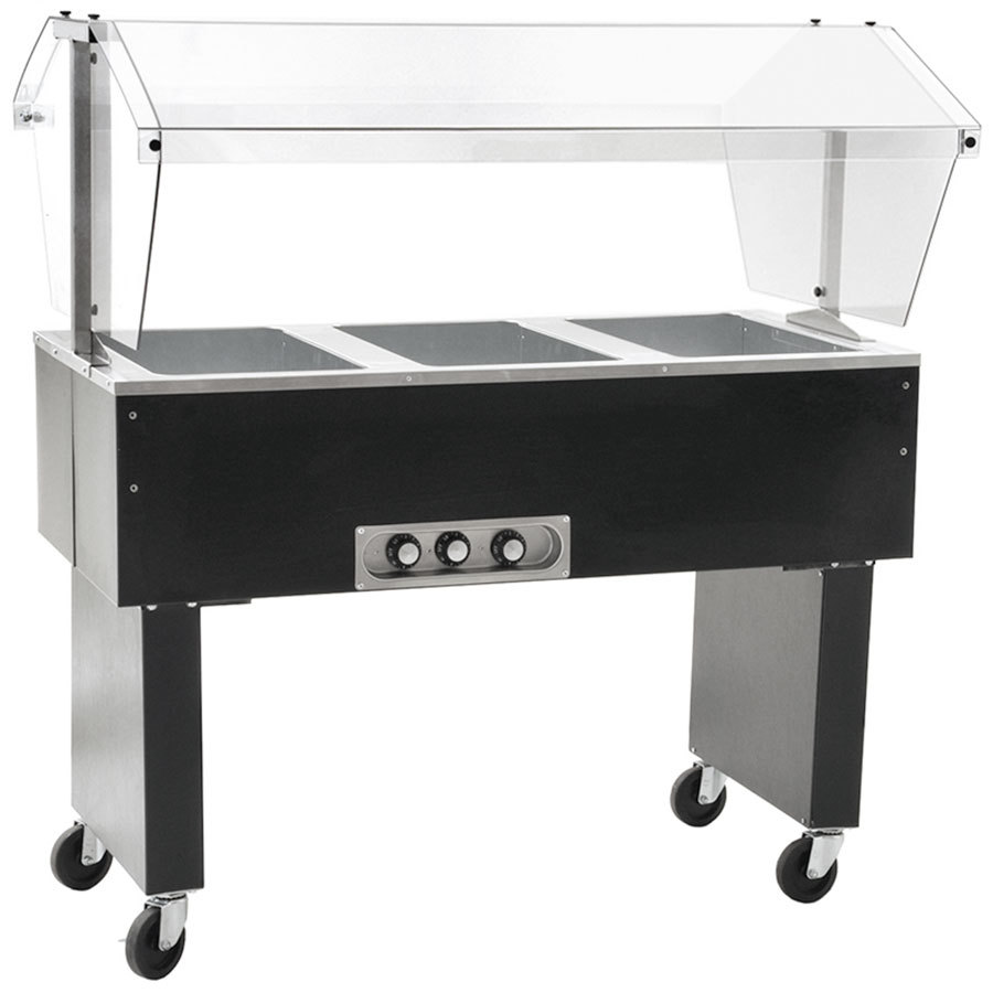 Eagle group bpdht3 three pan deluxe service mates portable for Sideboard porta