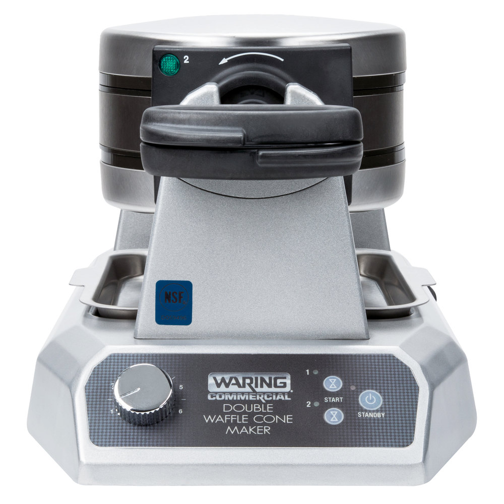 waring double waffle maker instructions