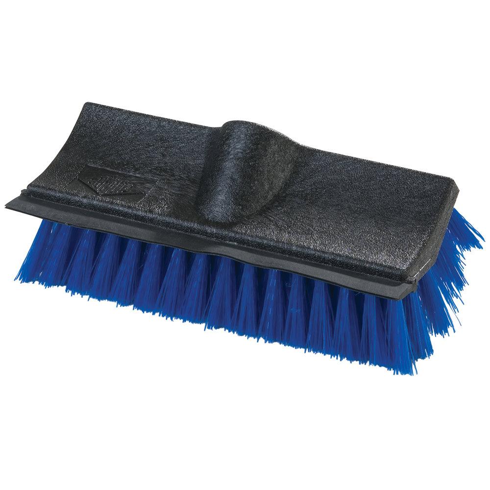 carlisle 10 inch hilo floor scrub brush with squeegee