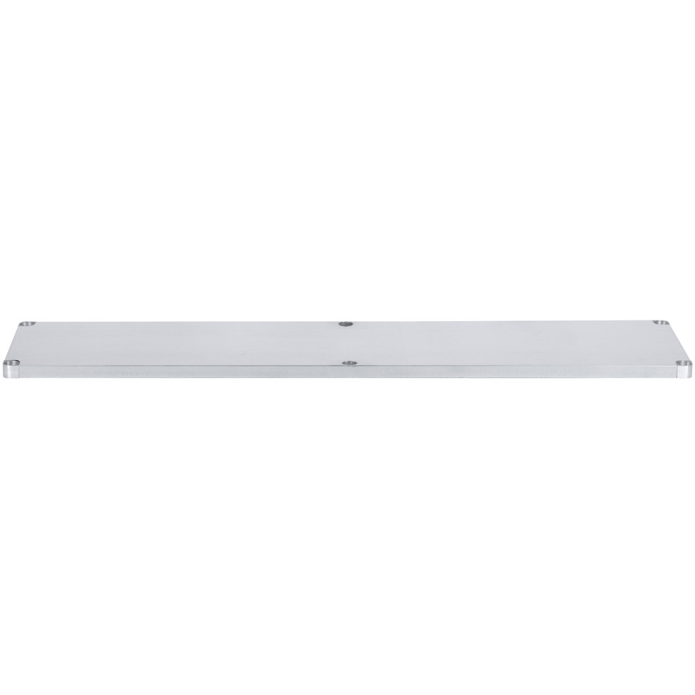 Regency Adjustable Stainless Steel Work Table Undershelf for 30 inch x 84 inch Tables - 18 Gauge