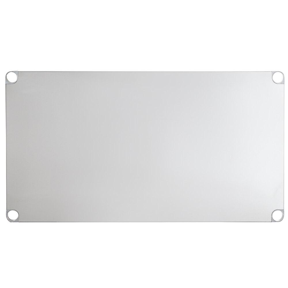 Regency Adjustable Stainless Steel Work Table Undershelf for 30 inch x 48 inch Tables - 18 Gauge