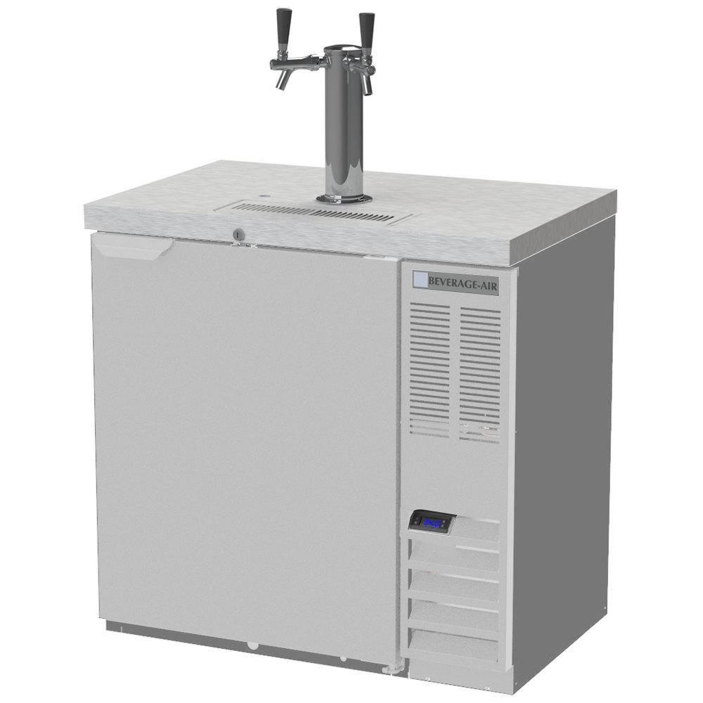 Beverage-Air DD36HC-1-S Double Tap Kegerator Beer Dispenser ...