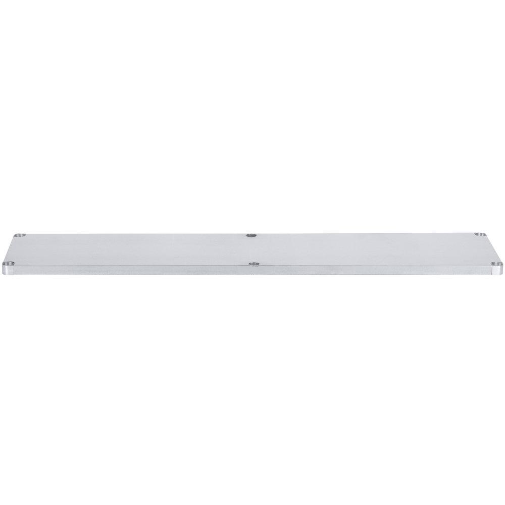 Regency Adjustable Stainless Steel Work Table Undershelf for 24 inch x 84 inch Tables - 18 Gauge