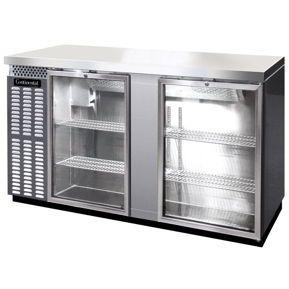Glass Door Stainless Steel Refrigerator Beverage Air