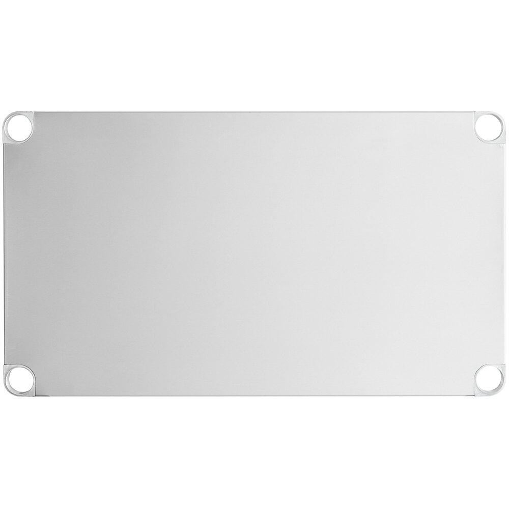 Regency Adjustable Stainless Steel Work Table Undershelf for 24 inch x 36 inch Tables - 18 Gauge