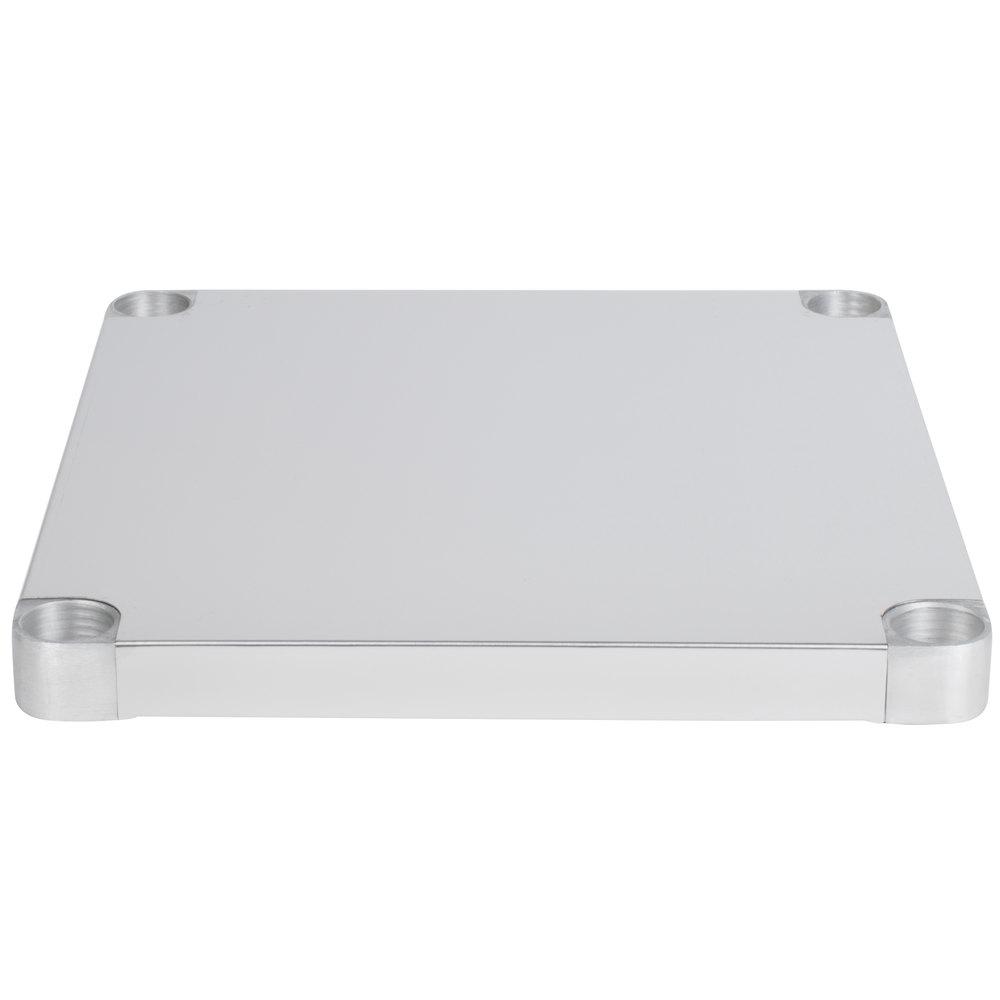 Regency Adjustable Stainless Steel Work Table Undershelf for 30 inch x 30 inch Tables - 18 Gauge