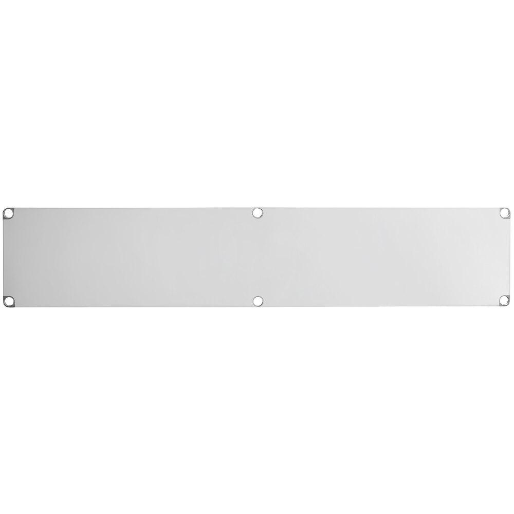 Regency Adjustable Stainless Steel Work Table Undershelf for 24 inch x 96 inch Tables - 18 Gauge