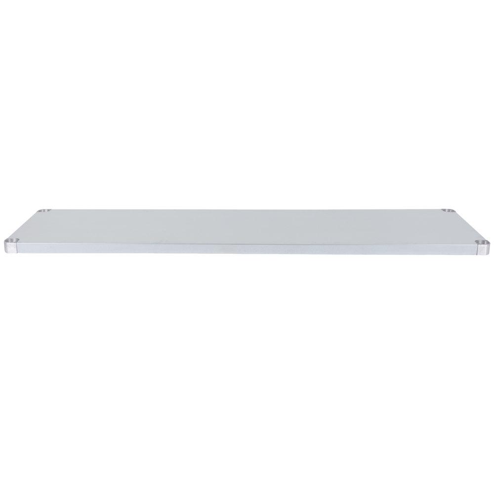 Regency Adjustable Stainless Steel Work Table Undershelf for 24 inch x 72 inch Tables - 18 Gauge