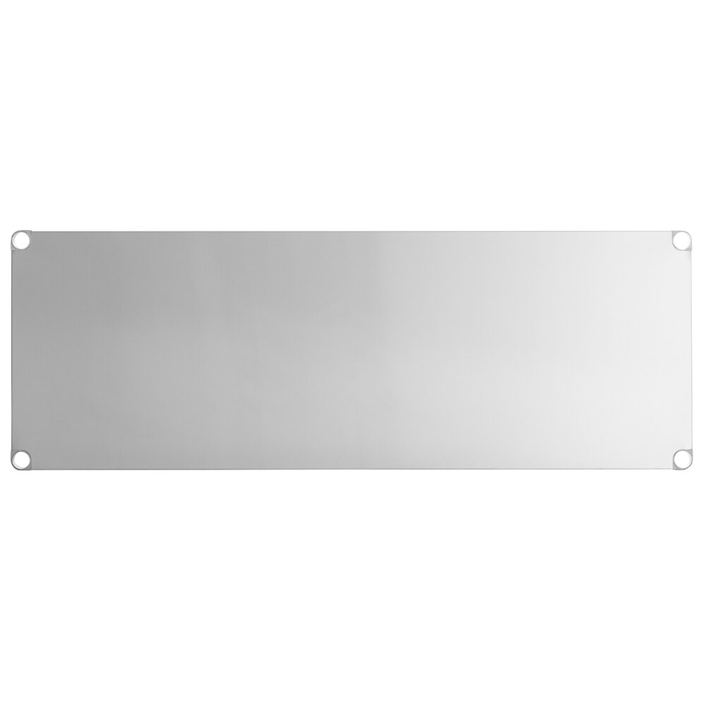 Regency Adjustable Stainless Steel Work Table Undershelf for 30 inch x 72 inch Tables - 18 Gauge