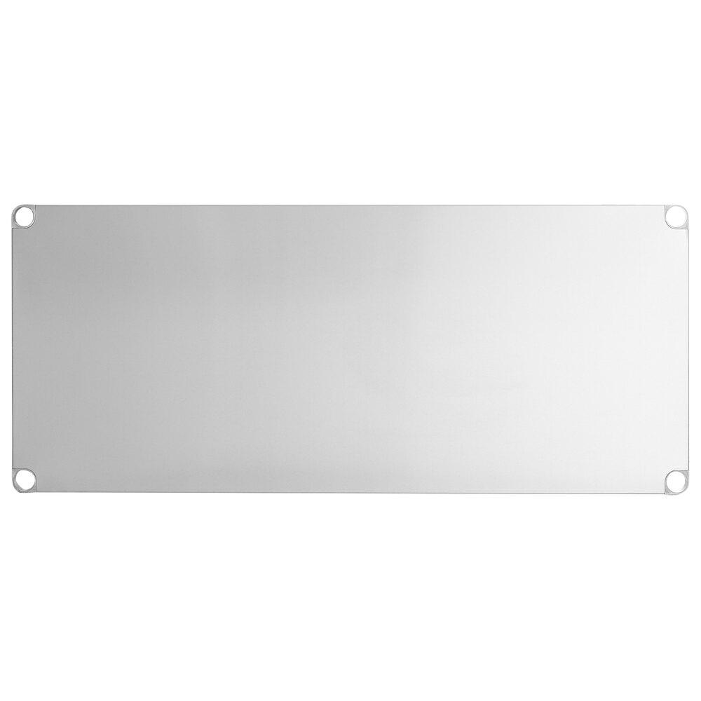 Regency Adjustable Stainless Steel Work Table Undershelf for 30 inch x 60 inch Tables - 18 Gauge