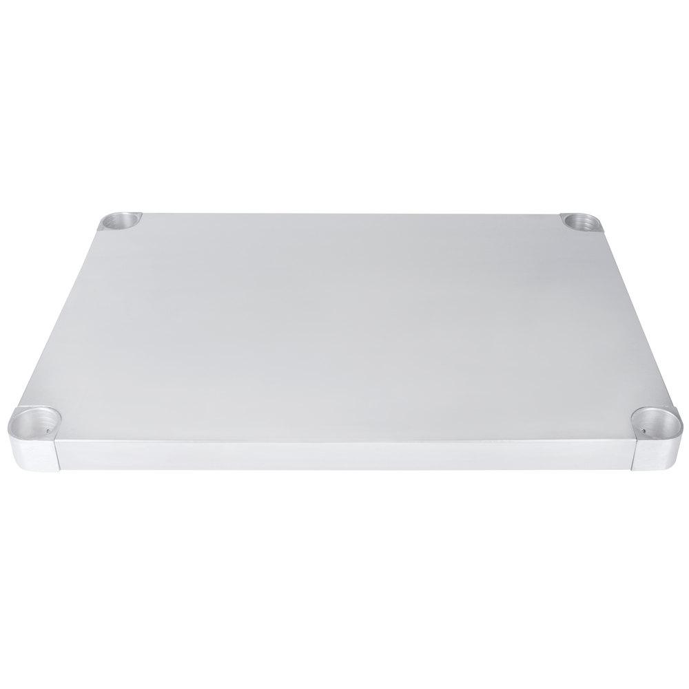 Regency Adjustable Stainless Steel Work Table Undershelf for 24 inch x 30 inch Tables - 18 Gauge