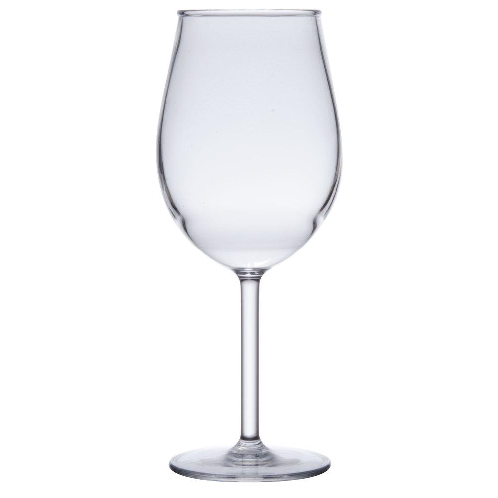 Get sw 1446 cl 15 oz tritan plastic white wine glass for Large white wine glasses