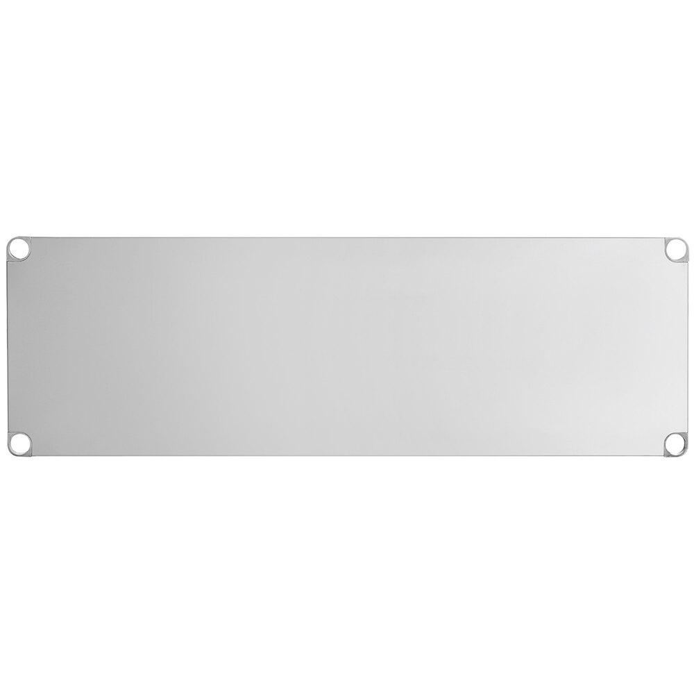 Regency Adjustable Stainless Steel Work Table Undershelf for 24 inch x 60 inch Tables - 18 Gauge