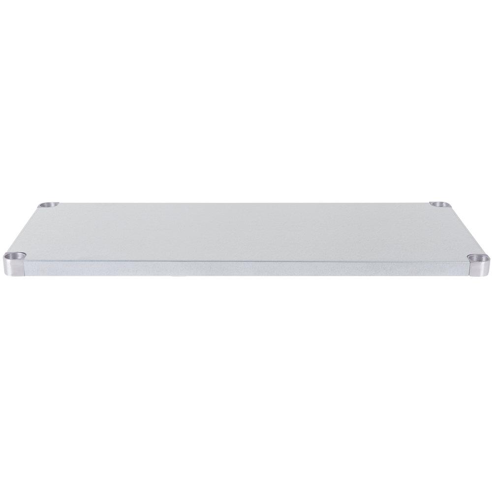 Regency Adjustable Stainless Steel Work Table Undershelf for 24 inch x 48 inch Tables - 18 Gauge