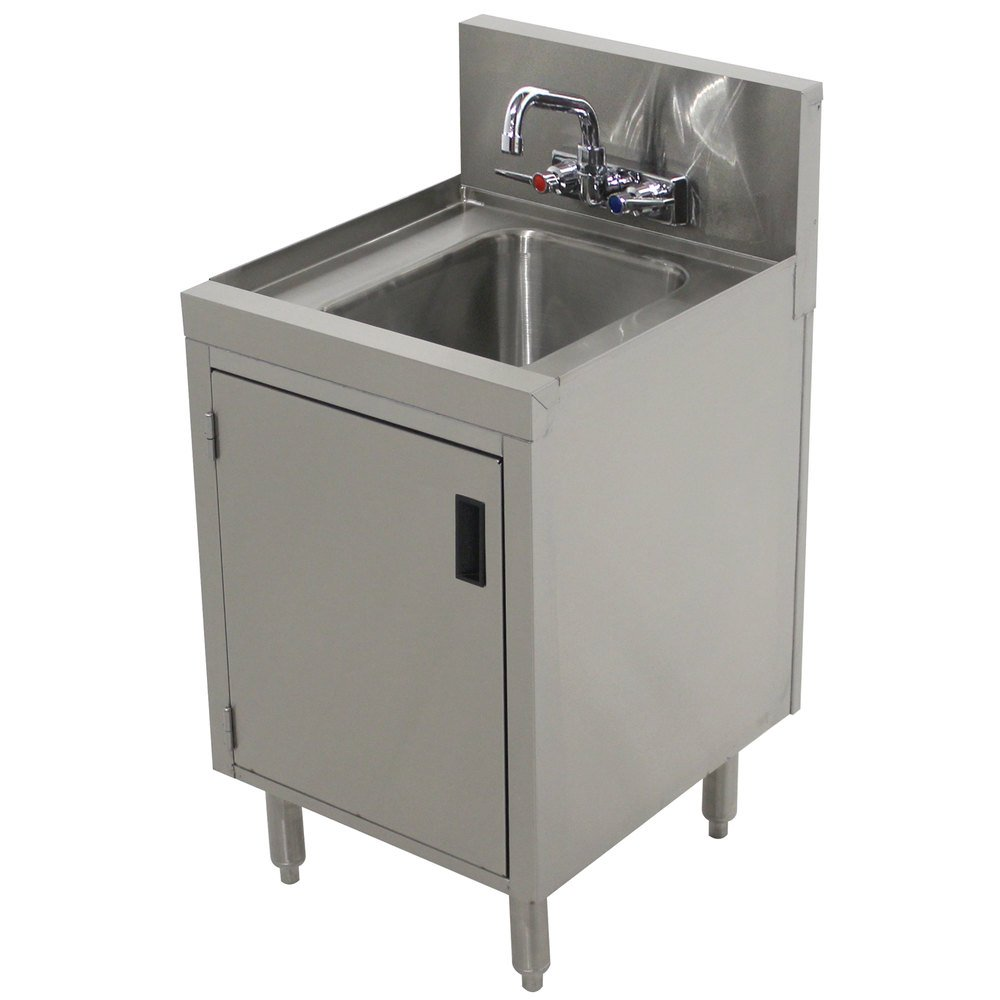 Advance tabco prhsc 19 12 prestige series stainless steel for Metal sink cabinet