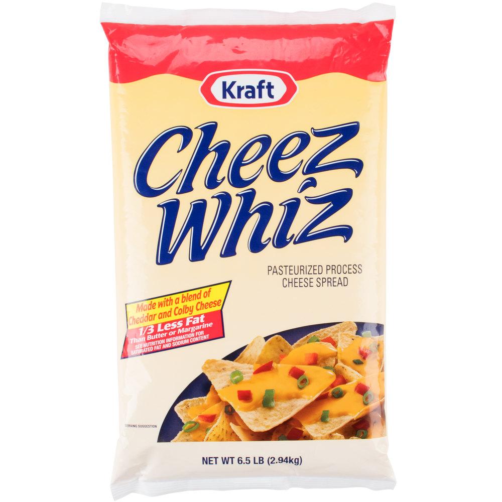 Kraft 6 5 Lb Cheez Whiz Cheese Spread