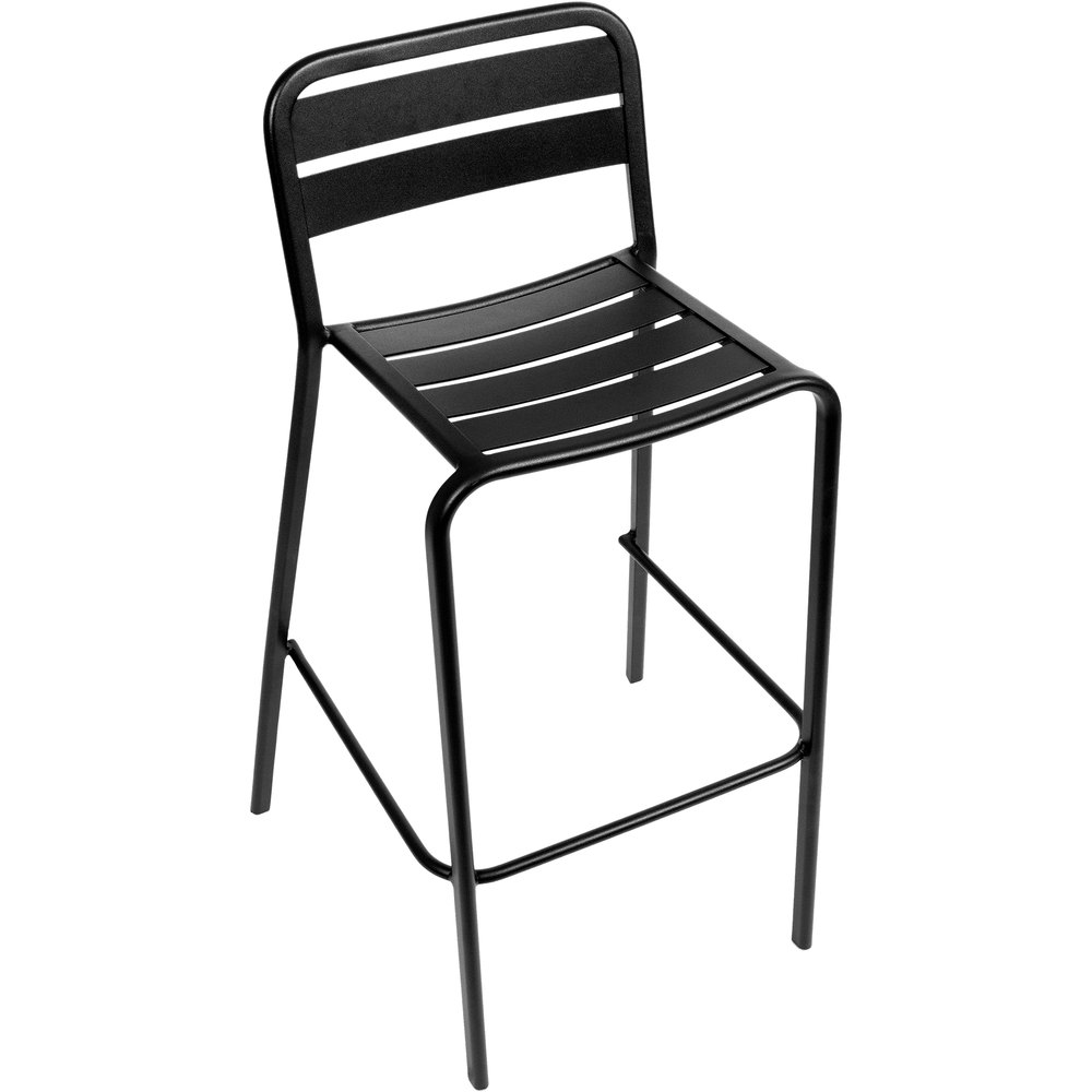 Bfm Seating Dv552bl Vista Outdoor Indoor Stackable Black