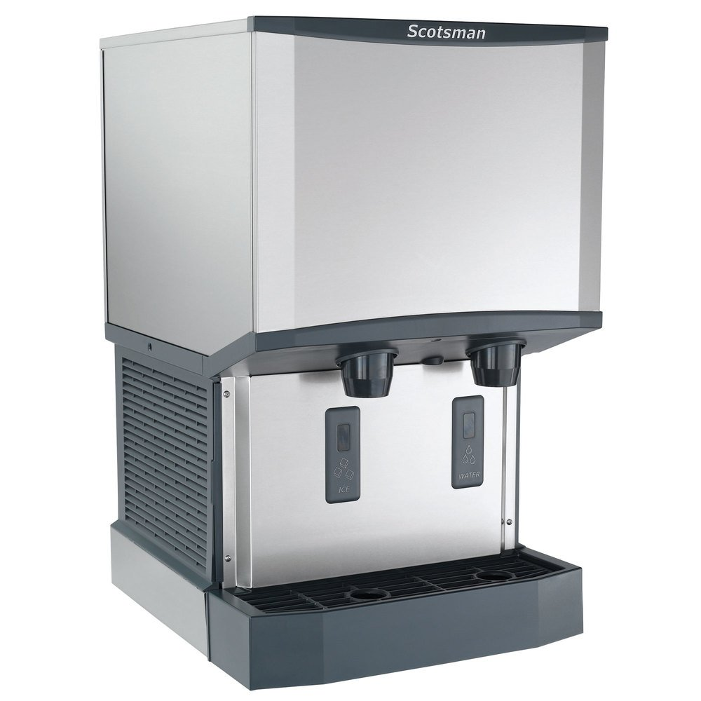 ... Countertop Water Cooled Ice Machine and Water Dispenser - 25 lb. Bin