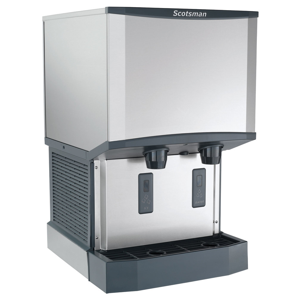 ... Countertop Air Cooled Ice Machine and Water Dispenser - 25 lb. Bin