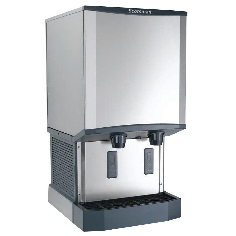 Countertop Ice Machine And Water Dispenser : ... Countertop Air Cooled Ice Machine and Water Dispenser - 40 lb. Bin