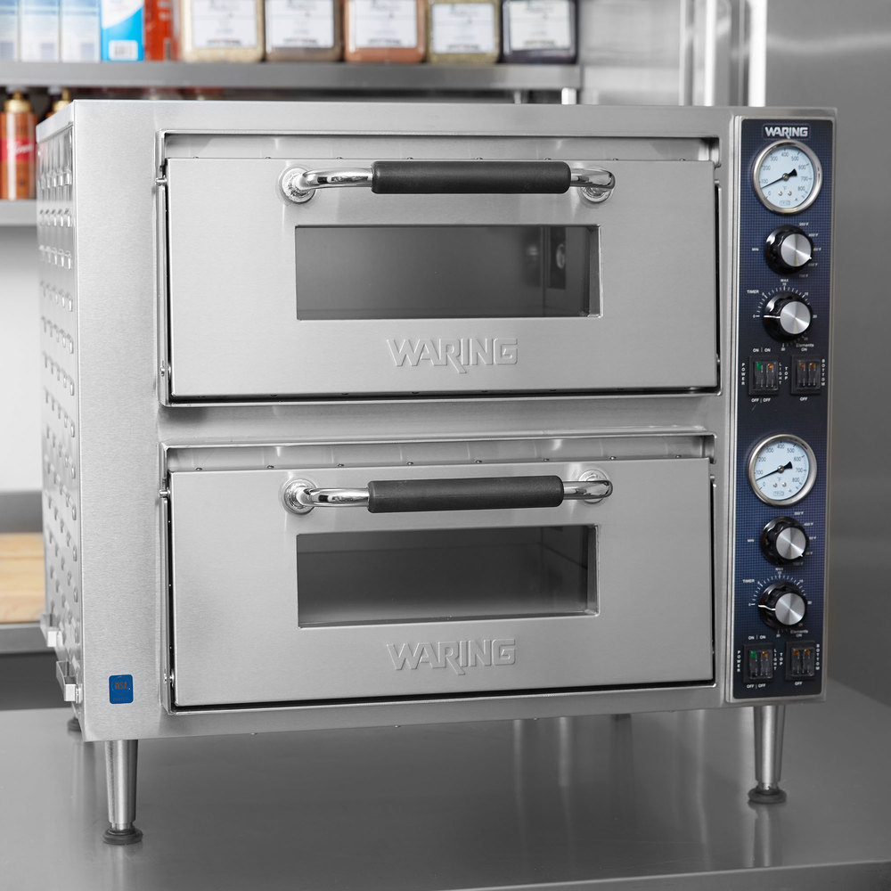 WPO750 Double Deck Countertop Pizza Oven with Two Independent ...