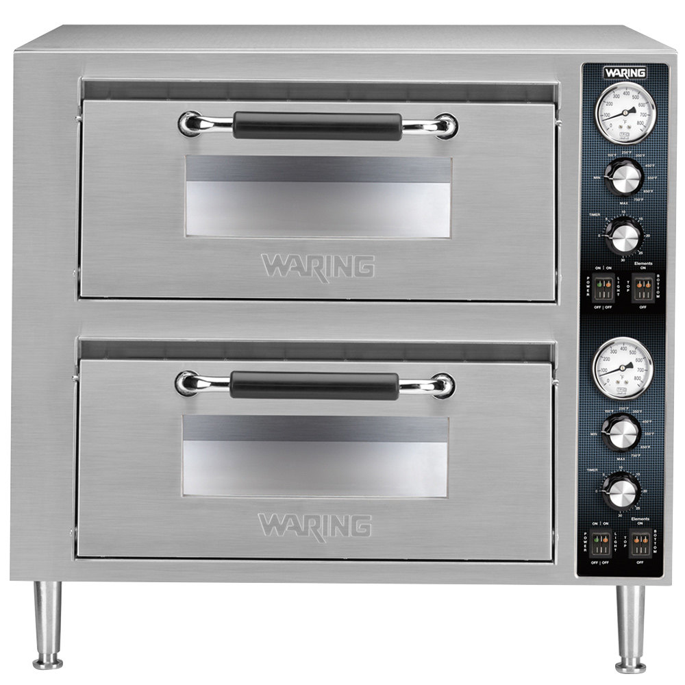 Countertop Oven Parts : Waring WPO750 Double Deck Countertop Pizza Oven with Two Independent ...