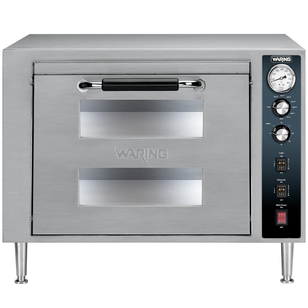 Best Commercial Countertop Pizza Oven : Waring WPO700 Double Deck Countertop Pizza Oven - 240V