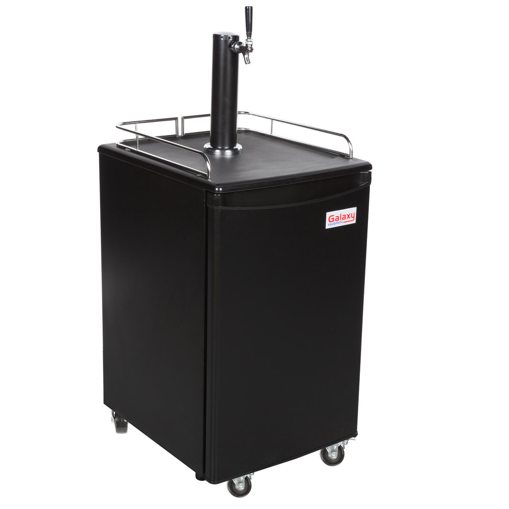 Galaxy Single Tap Kegerator Beer Dispenser - Black, (1) 1 ...