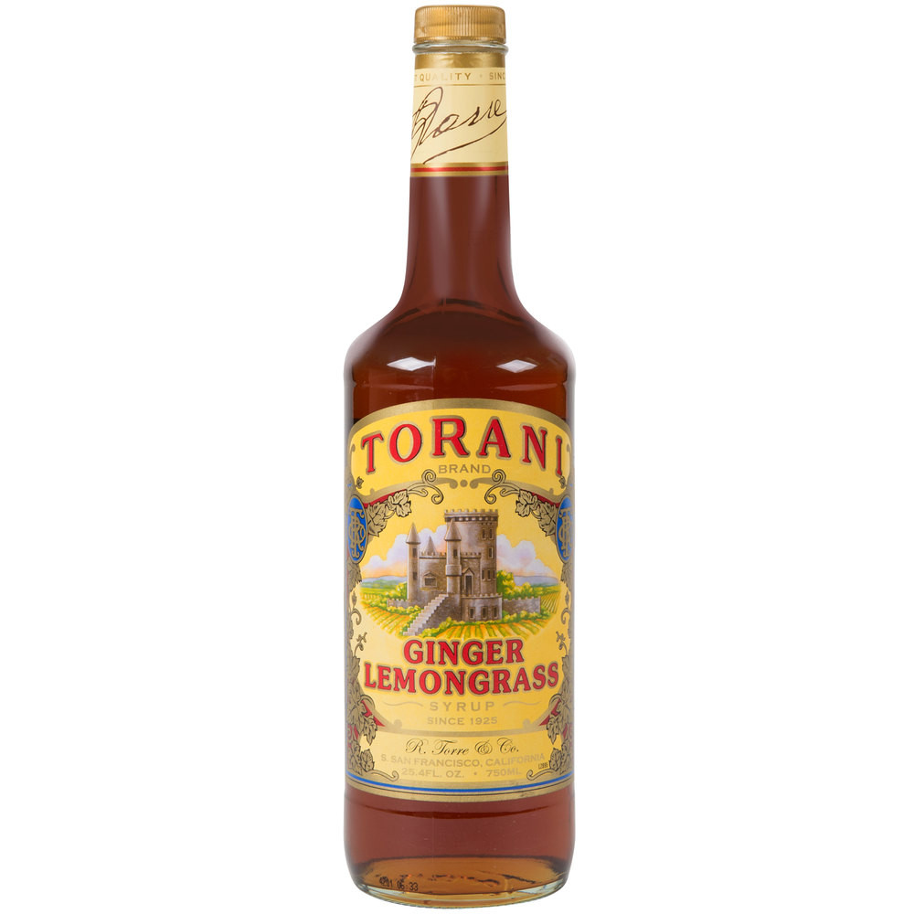 Torani Limited Edition 750 mL Ginger Lemongrass Flavoring Syrup