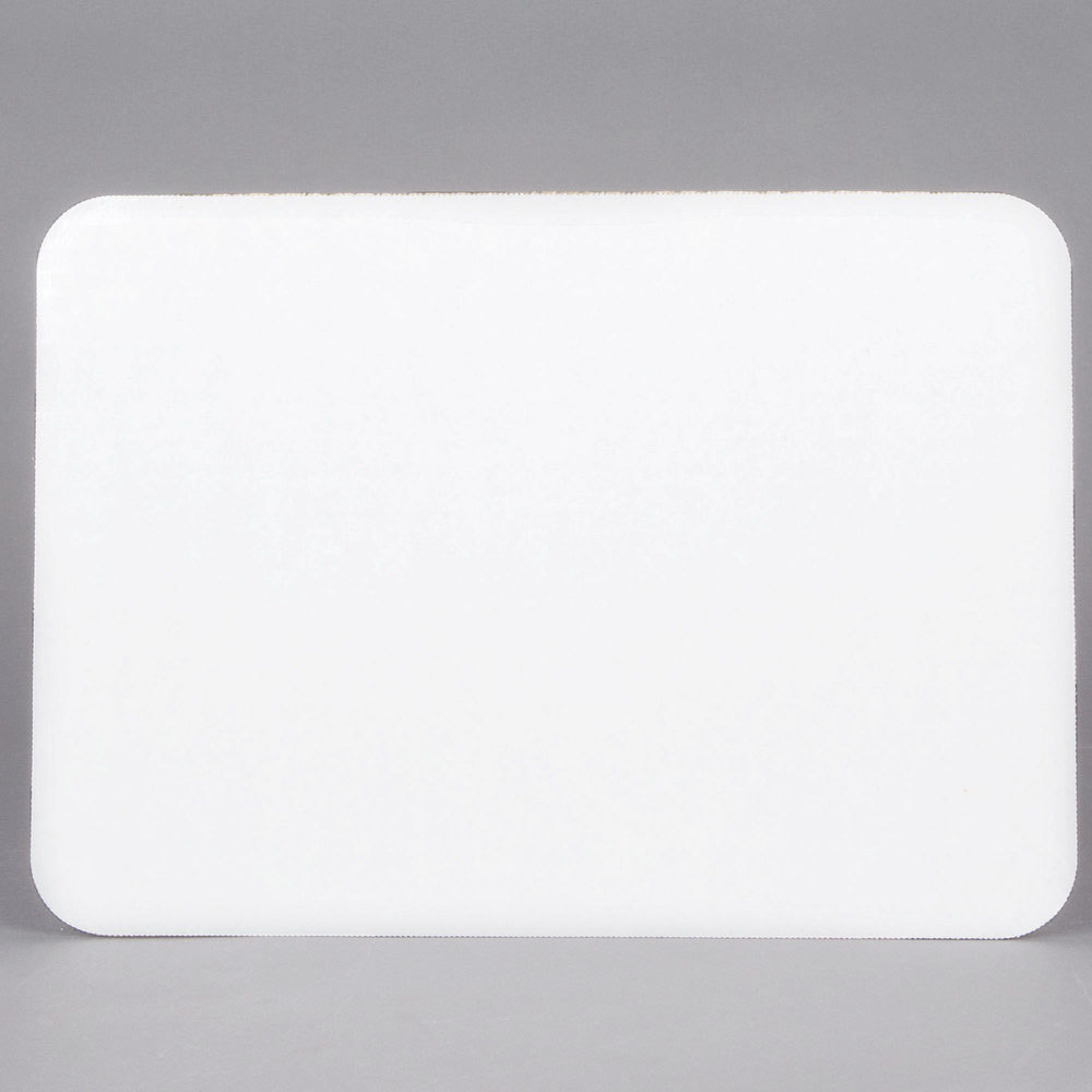 "14"" x 10"" Corrugated Grease-Resistant White Cake Pad - 100/Box"