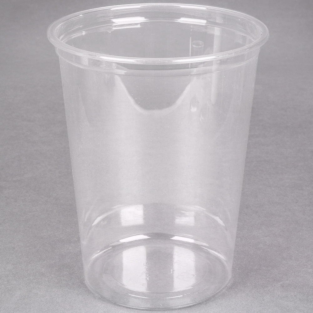 Choice 32 Oz Clear Plastic Round Deli Container 50 Pack