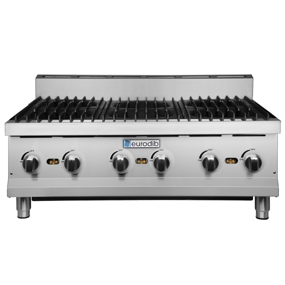 Countertop Gas Range : Eurodib HP636 36