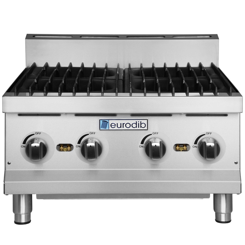 Countertop Gas Range : Eurodib HP424 24