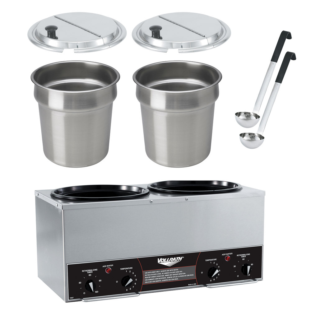 Vollrath Soup Warmers ~ Vollrath cayenne twin well qt rethermalizer