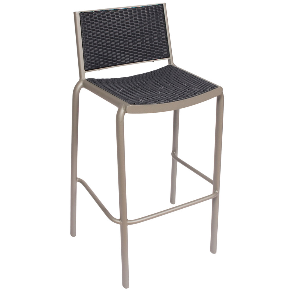 BFM Seating DV551GRTS Cocoa Beach Stackable Outdoor Bar